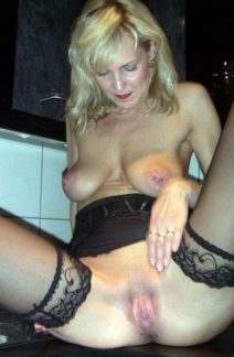 Mature woman paid for sex